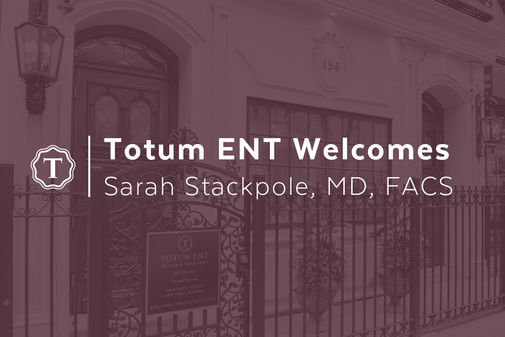 Totum ENT Welcomes New Doctor, Sarah Stackpole, MD, FACS